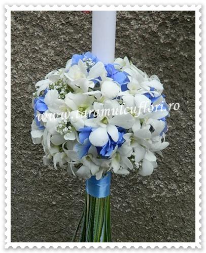 Lumanari nunta din orhidee si hortensie.7888